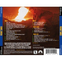 Patriot Games Soundtrack (James Horner) - CD Back cover