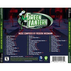 Green Lantern: The Animated Series: Volume 2 Soundtrack (Frederik Wiedmann) - CD Back cover