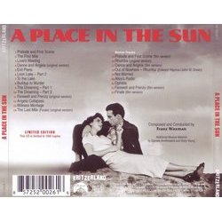 A Place in the Sun Soundtrack (Franz Waxman) - CD Back cover