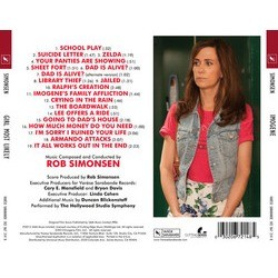Girl Most Likely Soundtrack (Rob Simonsen) - CD Back cover