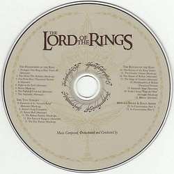 The Music of The Lord of the Rings Films Soundtrack (Howard Shore) - CD Back cover