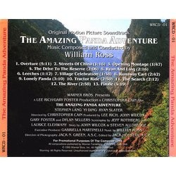 The Amazing Panda Adventure Soundtrack (William Ross) - CD Trasero