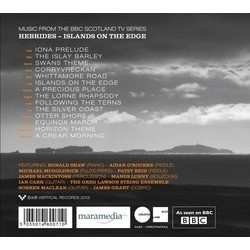 Hebrides: Islands on the edge Soundtrack (Donald Shaw) - CD Back cover