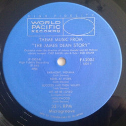 Theme music from The James Dean Story サウンドトラック (Various Artists, Chet Baker, Leith Stevens) - CDインレイ