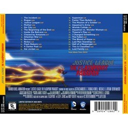 Justice League: The Flashpoint Paradox Soundtrack (Frederik Wiedmann) - CD Back cover