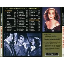 All About Eve / Leave Her to Heaven Soundtrack (Alfred Newman) - CD Back cover
