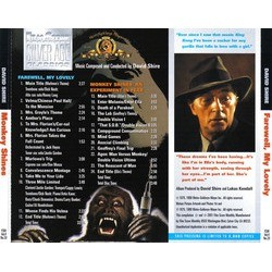 Farewell, My Lovely/Monkey Shines Soundtrack (David Shire) - CD Trasero