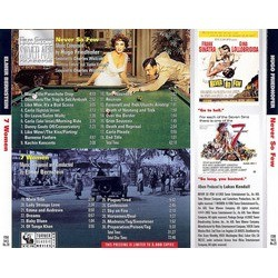Never So Few/7 Women Soundtrack (Elmer Bernstein, Hugo Friedhofer) - CD Back cover