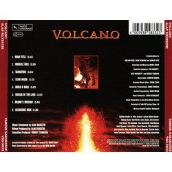 Volcano Soundtrack (Alan Silvestri) - CD Back cover