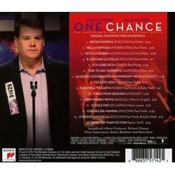 One Chance Soundtrack (Various Artists) - CD Back cover
