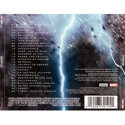 Thor: The Dark World Soundtrack (Brian Tyler) - CD Back cover