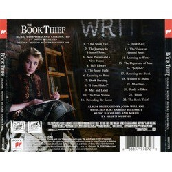 The Book Thief Soundtrack (John Williams) - CD Back cover