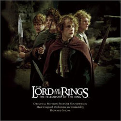The Lord of the Rings: The Fellowship of the Ring Soundtrack  (Howard Shore) - CD cover