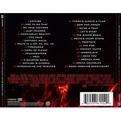 The Hunger Games: Catching Fire Soundtrack (James Newton Howard) - CD Back cover
