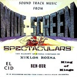 Sound Track Music From Wide-Screen Spectaculars サウンドトラック (Miklós Rózsa) - CDカバー