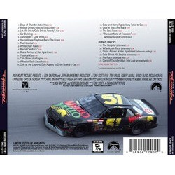 Days of Thunder Soundtrack (Hans Zimmer) - CD Back cover