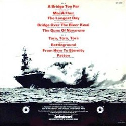 Great Film Themes Inspired by World War II サウンドトラック (John Adams, Malcolm Arnold, George Duning, Jerry Goldsmith, Lennie Hayton, Maurice Jarre, Dimitri Tiomkin) - CD裏表紙