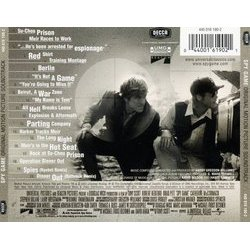 Spy Game Soundtrack (Harry Gregson-Williams) - CD Back cover