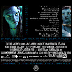 Avatar Soundtrack (James Horner) - CD Back cover