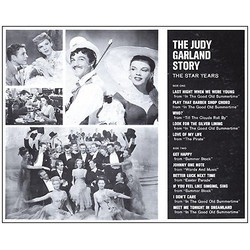 The Judy Garland Story vol. 1 サウンドトラック (Irving Berlin, Irving Berlin, Judy Garland, Mack Gordon, Lorenz Hart, Jerome Kern, Cole Porter, Cole Porter, Richard Rodgers, George Stoll, Harry Warren) - CD裏表紙