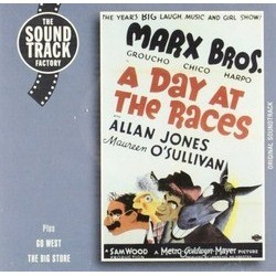 A Day at the Races Soundtrack (Various Artists, Hal Borne, Bronislaw Kaper, The Marx Brothers) - CD cover