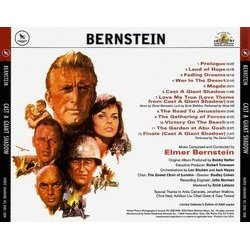 Cast a Giant Shadow Soundtrack (Elmer Bernstein) - CD Back cover