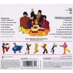 Yellow Submarine Colonna sonora (The Beatles, George Harrison, John Lennon, George Martin, George Martin, Paul McCartney) - Copertina posteriore CD