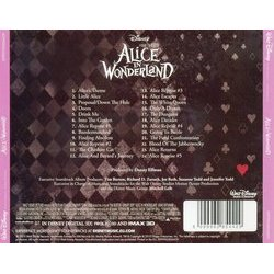 Alice in Wonderland 声带 (Danny Elfman) - CD后盖