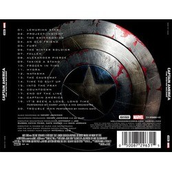 Captain America: The Winter Soldier Soundtrack (Henry Jackman) - CD Back cover