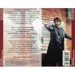 Carlito's Way 声带 (Patrick Doyle) - CD后盖