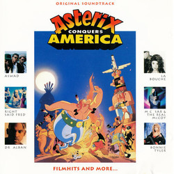 Asterix Conquers America Soundtrack (Various Artists, Harold Faltermeyer) - CD cover