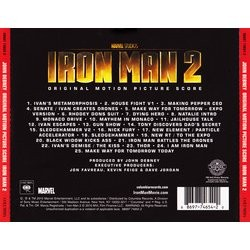 Iron Man 2 Soundtrack (John Debney) - CD Back cover