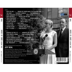 House of Cards: Season 2 Soundtrack (Jeff Beal) - CD Back cover