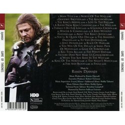 Game of Thrones Soundtrack (Ramin Djawadi) - CD Trasero