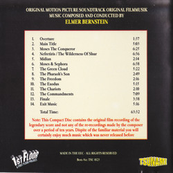 The Ten Commandments Soundtrack (Elmer Bernstein) - CD Back cover
