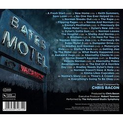 Bates Motel Trilha sonora (Chris Bacon) - CD capa traseira