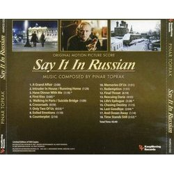 Say It in Russian Soundtrack (Pinar Toprak) - CD Back cover