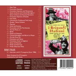 I Briganti Italiani Soundtrack (Angelo Francesco Lavagnino) - CD Trasero