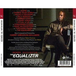The Equalizer Soundtrack (Harry Gregson-Williams) - CD Back cover
