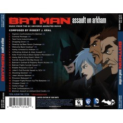 Batman: Assault on Arkham Soundtrack (Robert J. Kral) - CD Back cover