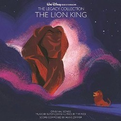 Walt Disney Records The Legacy Collection: The Lion King Soundtrack  (Elton John, Tim Rice, Hans Zimmer) - CD cover
