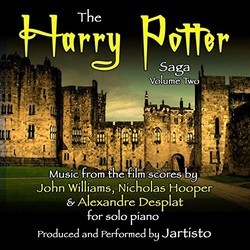 The Harry Potter Saga: Music for Solo Piano Vol. 2 Soundtrack (Jartisto , Alexandre Desplat, Nicholas Hooper, John Williams) - CD cover