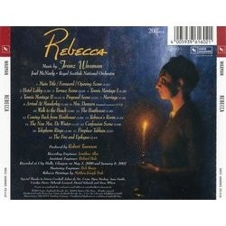 Rebecca Soundtrack (Franz Waxman) - CD Back cover
