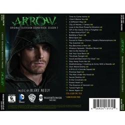 Arrow: Season 2 Trilha sonora (Blake Neely) - CD capa traseira