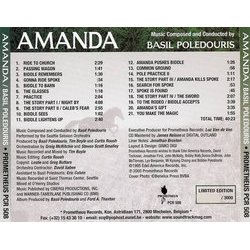 Amanda Soundtrack (Basil Poledouris) - CD Trasero