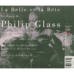 La Belle Et La Bête Soundtrack (Philip Glass) - CD Achterzijde