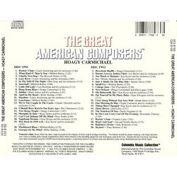 The Great American Composers: Hoagy Carmichael Soundtrack (Various Artists, Hoagy Carmichael) - CD Back cover