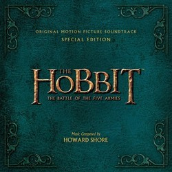 The Hobbit: The Battle of the Five Armies Soundtrack (Howard Shore) - CD cover