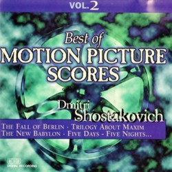 Best Of Motion Picture Scores : Dmitri Shostakovich Vol. 2 サウンドトラック (Dmitri Shostakovich) - CDカバー