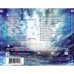 The Chronicles of Narnia: The Voyage of the Dawn Treader Soundtrack (David Arnold) - CD Back cover